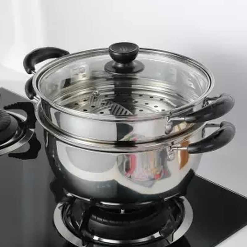 إناء للحساء الفولاذ المقاوم للصدأ قدر للحليب (لبّانة) سميكة واحدة طبقة مزدوجة طبقة إناء للحساء باخرة غير عصا وعاء صغير طباخ إناء للحساء عصيدة