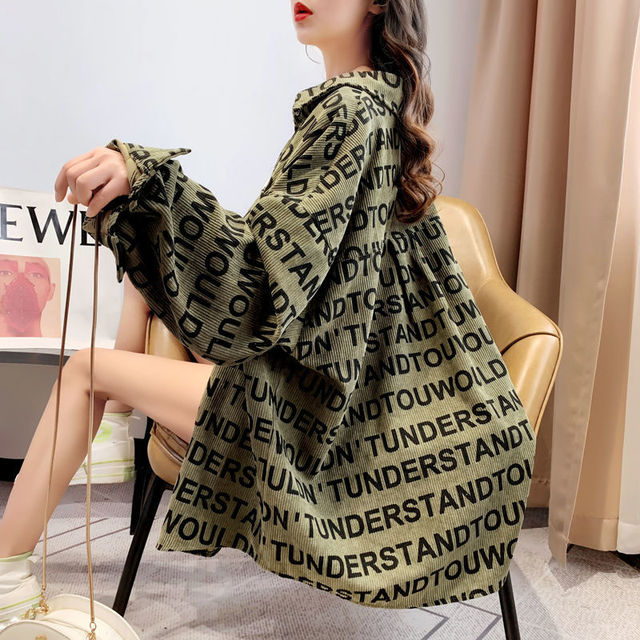 Ay1122 2020 spring summer autumn new women fashion casual ladies work Blouse woman overshirt female OL plus size clothing 5