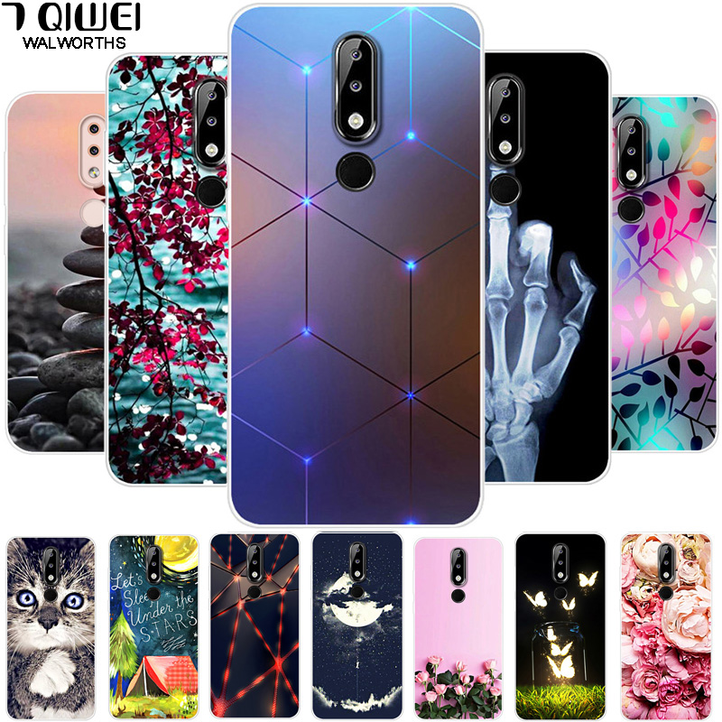 For <font><b>Nokia</b></font> <font><b>5.1</b></font> Plus <font><b>Case</b></font> <font><b>Phone</b></font> Cover Soft Silicone Back <font><b>Cases</b></font> for <font><b>Nokia</b></font> X5 <font><b>Case</b></font> 5.1Plus Printed TPU Coque for Nokia5.1 + 5.86'' image