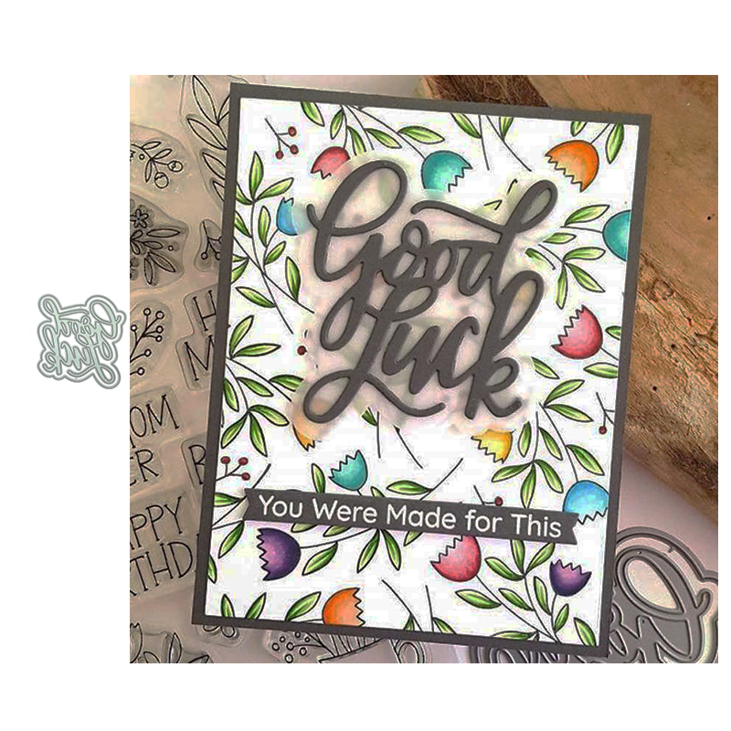 JC Good Luck Metal Cutting Dies for Scrapbooking Craft Mold Cut Die Stencil Background Handmade Tool Album Paper Card Make Decor image