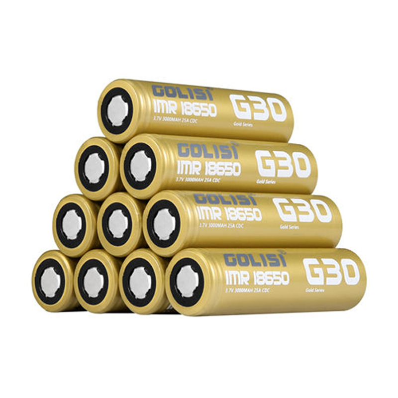 2/<font><b>4</b></font>/6/10 <font><b>PCS</b></font> GOLISI G30 IMR18650 3000mah 3.7V 25A High-drain E-CIG Rechargeable <font><b>18650</b></font> <font><b>Battery</b></font> for VAPE Flashlight Headlamp Toy image