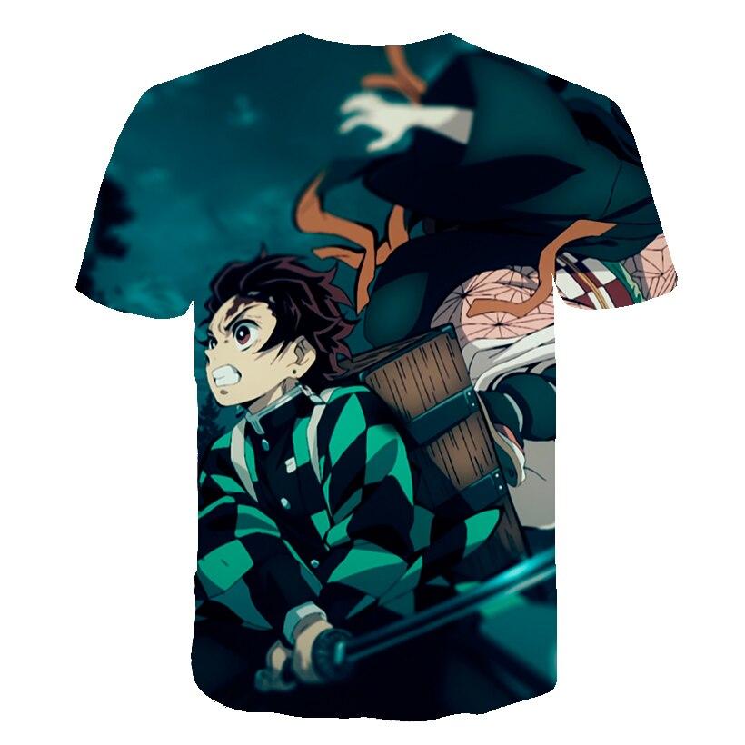 H319b35122b4a4e4a8449e23051a617aen Kids Boys Devils killer T-shirts 3d Print Cosplay Japanese Ghost blade Children Summer Short Sleeve Tshirts Demon Slayer Clothes