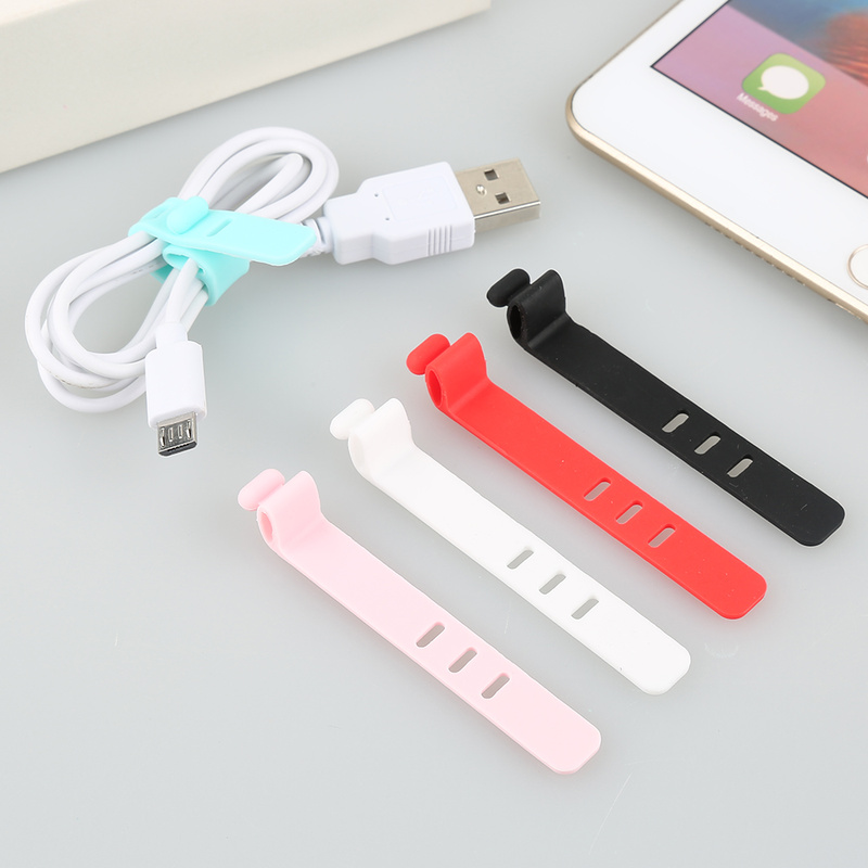 1pc Cable Winder Silicone Cable Organizer Wire Wrapped Cord Line Storage Holder for IPhone