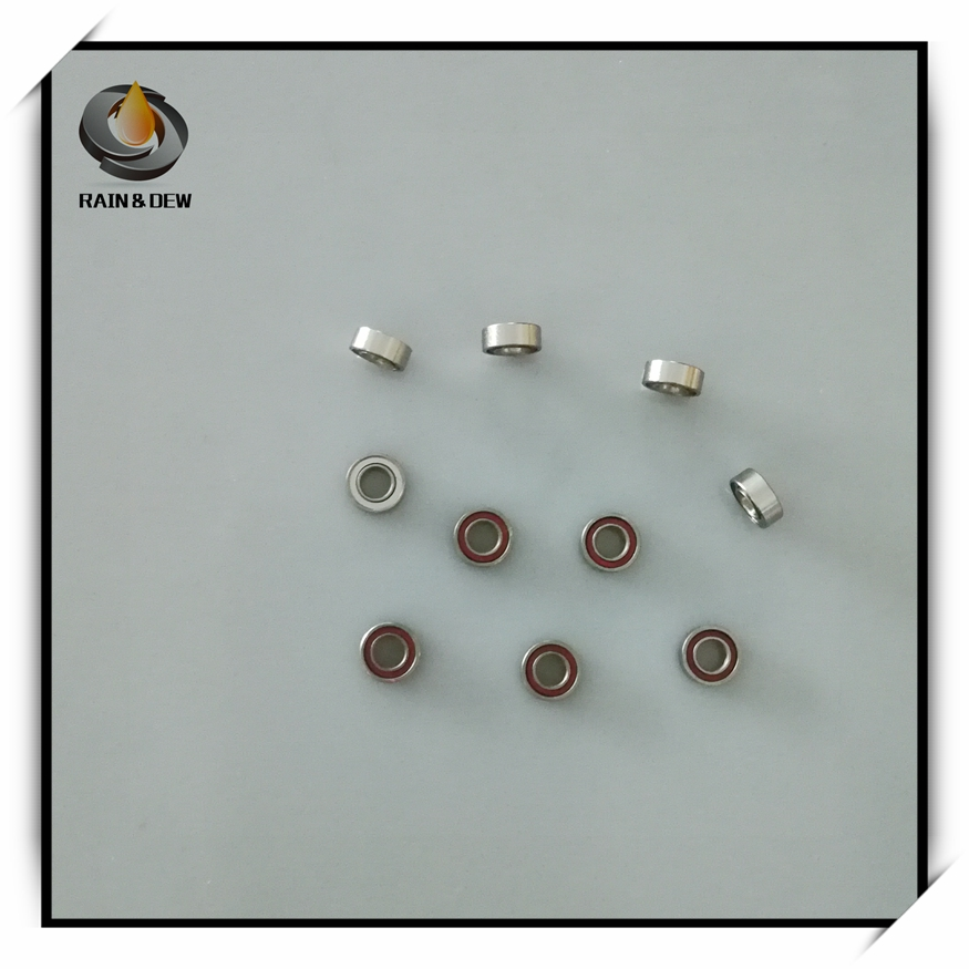 High Speed 10Pcs  SR144 TIZWN8  3.175x6.35x2.380 Mm Air Turbine Handpiece Ceramic Cartridge Dental Rotor NSK Bearing