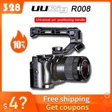 UURig هيكل قفصي الشكل للكاميرا لسوني A6400 فلو الإسكان قفص مقبض فيديو تلاعب مع مقبض خشبي/أري مقبض معدني العلوي