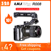 Uurig カメラケージソニー A6400 vlog 住宅ケージハンドルビデオリグ木製ハンドグリップ/arri メタルトップハンドル