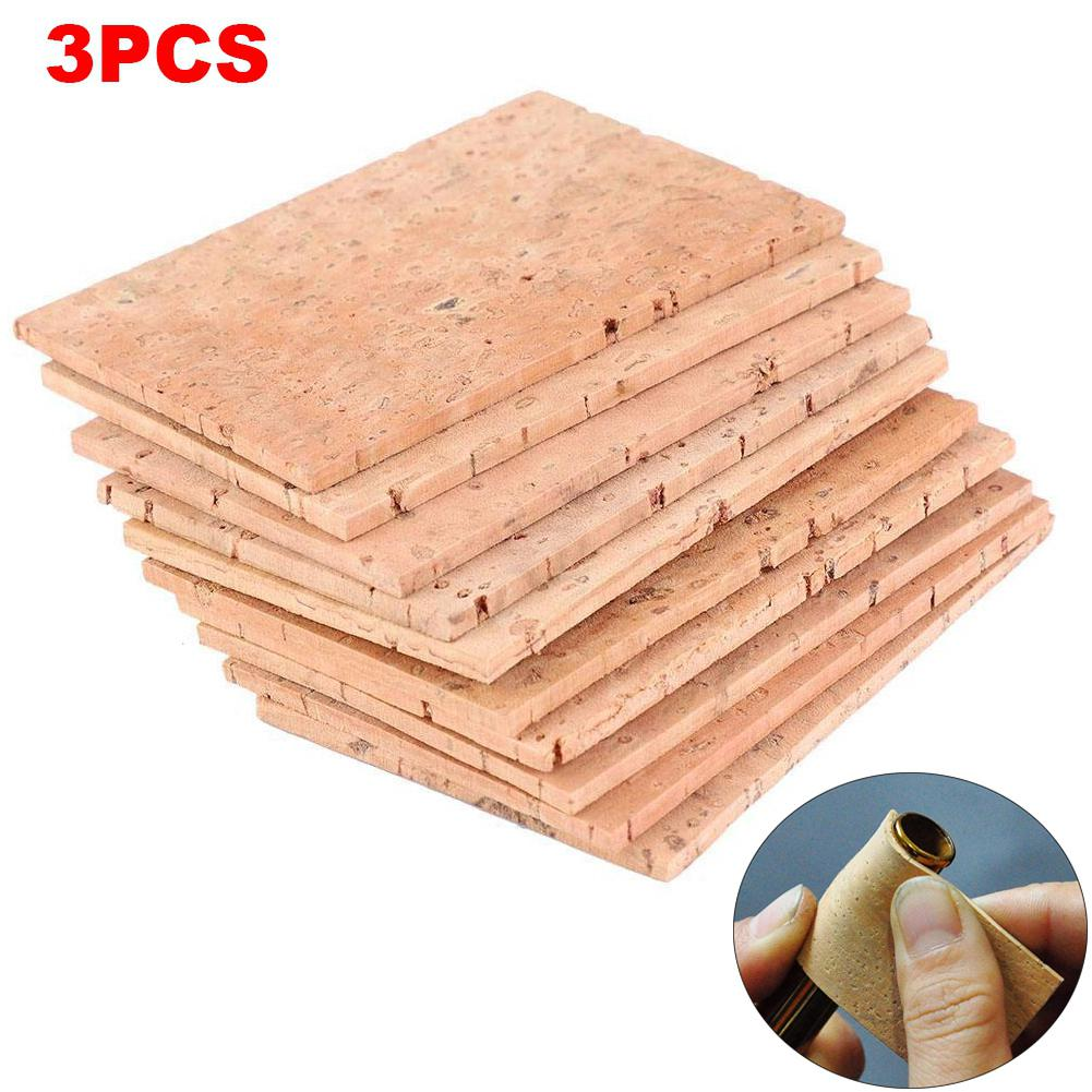 3PCS 60*40*2mm Natural Saxophone Cork Sheet Neck Joint Board Suitable For Alto/Soprano/Tenor Sax Musical Instrument Accessories