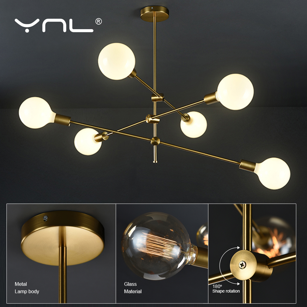 Modern Lighting Nordic Pendant Lights Hanglamp Living Room Hanging Lamp Indoor Gold Pedant Lamp Ceiling Long Pole Art Decoration