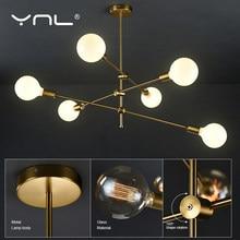 Lámpara colgante nórdica de iluminación moderna para sala de estar, luz colgante dorada para interior, decoración artística de poste largo de techo