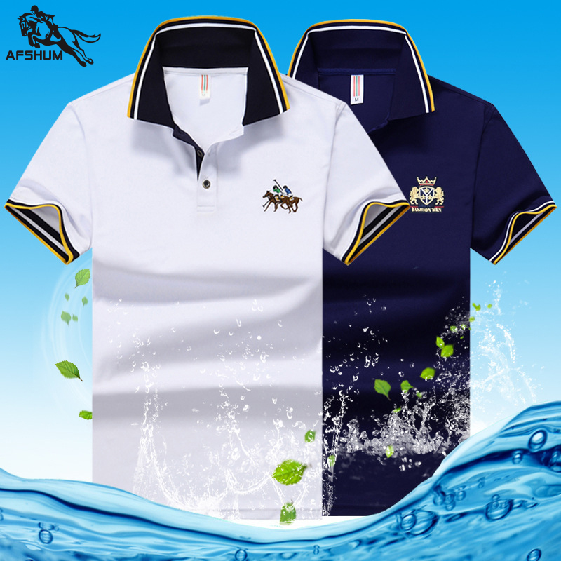 Summer New M-5XL 6XL 7XL 8XL Men Polo Shirt High Quality Men's Cotton Short-sleeved Embroidery Lapel Casual Business Polo Shirt