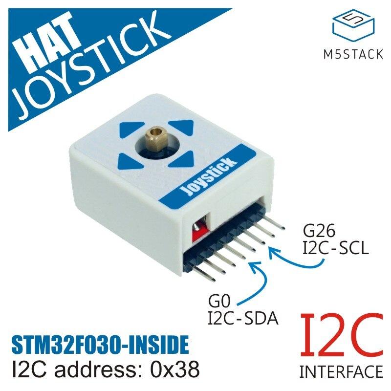 M5StickC ESP32Mini IoT Development Board Compatible Joystick HAT (STM32F030F4) Supports Full Angular Movement And Center Press
