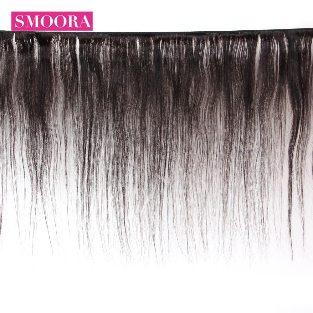 Straight  4 Bundles Deal 100% Natural Black  s Straight  Mix length Non-remy 2