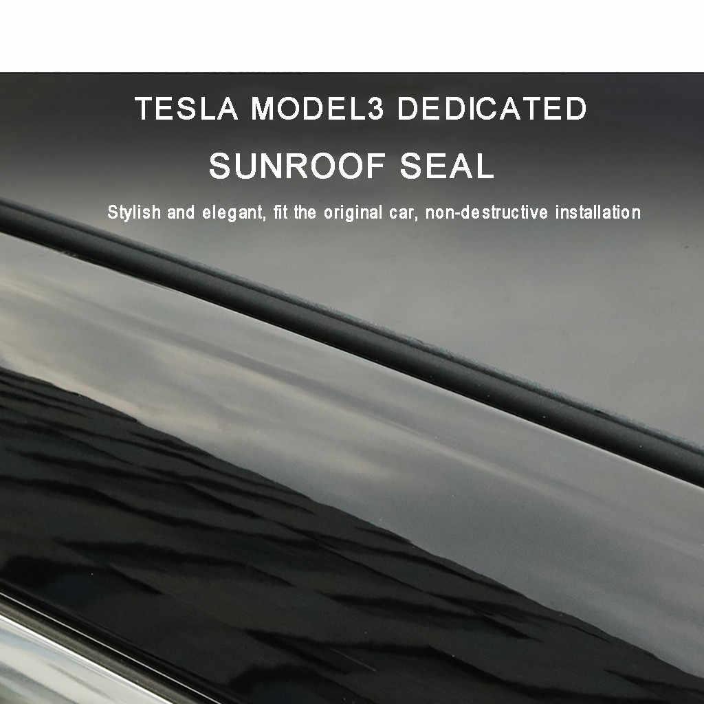 앞 유리 지붕 윈드 가드 소음 감소 감소 씰 키트 테슬라 모델 3 댐핑 조용한 씰 롤 씰링 스트립 # ger