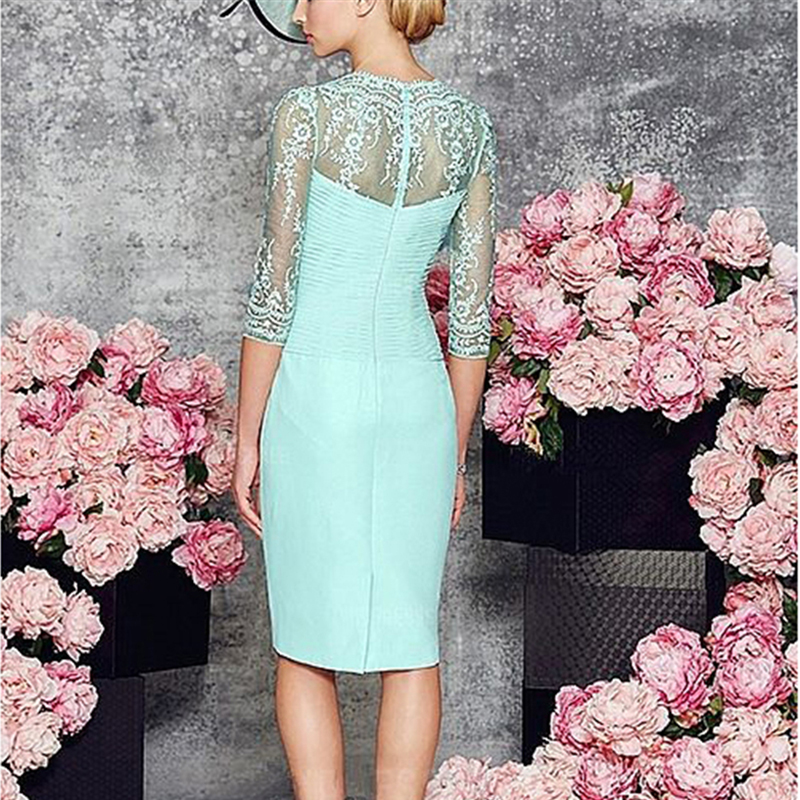 Two-Pieces-Zipper-Mother-of-Bride-Dress-with-Long-Sleeves-Jacket-Simple-Chiffon-Short-Dresses-Knee (1)