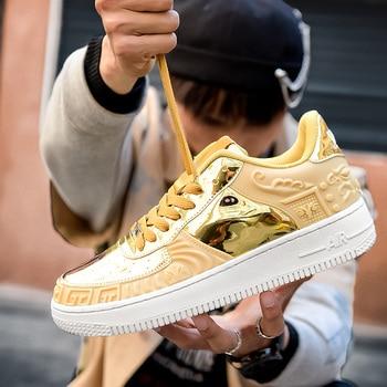 Zapatillas de deporte altas suaves, cómodas y transpirables, zapatos informales antideslizantes resistentes al desgaste para exteriores, nuevo estilo 1