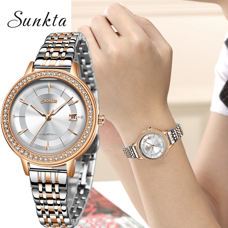 2020 Classic Women Rose Gold Top Brand Luxury Laides Dress Business Fashion Casual Waterproof Watches Quartz Calendar Wristwatch
