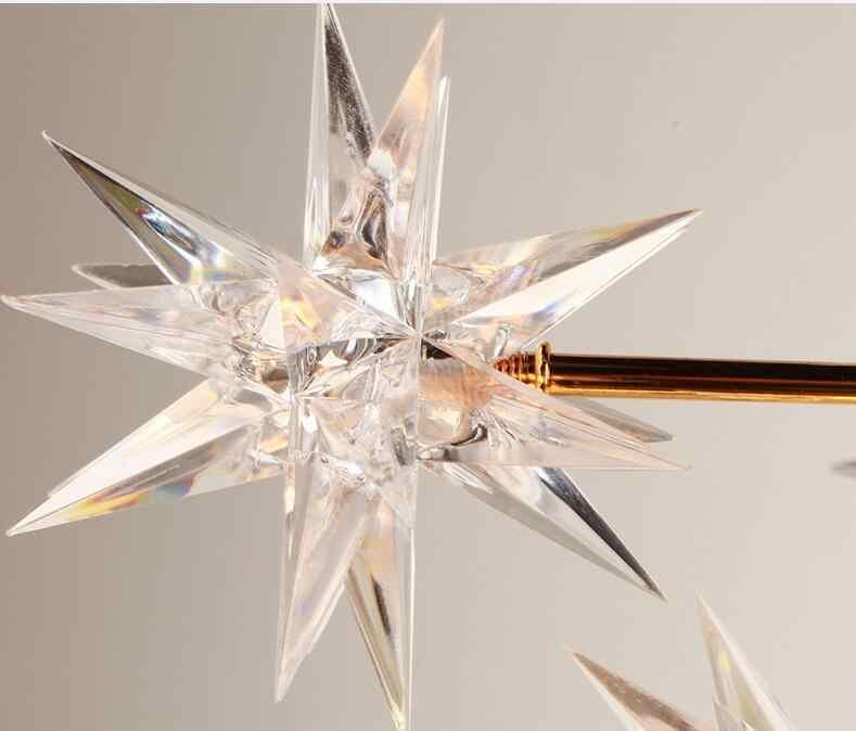 北欧デザイナー研究レストラン国芸術創造テーブルスパークボールスター寝室のガラスシャンデリア led