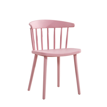 Nordic Style Modern Windsor Chair Simple Plastic Leisure Chair Home Discussion Desk Chair Lazy Backrest Dining Chair