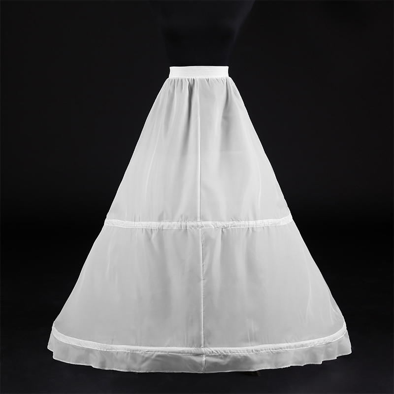 Wedding Accessories Petticoat Crinoline Adjustable Waist Long Layer Tulle White Bridal Underskirt For Wedding Party Jupon Femme