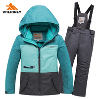 2019 Winter Kids Ski Suit Children Snow Suits Skiing Jacket + Pants Waterproof Windproof Boys Girls Ski Sets Winter Kids Clothes