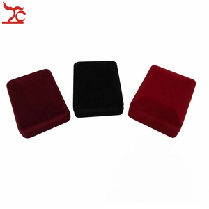Image 5 - 20Pcs/Lot Velvet  Jewelry Display Case 3 Colors Stud Earring Storage Box Pendant Organizer Holder Gift  Container