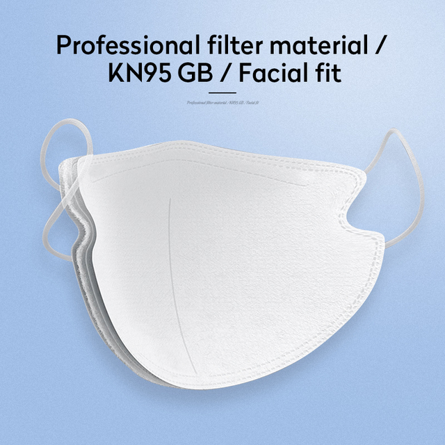 10Pcs N95 Mask Anti Virus Flu Anti Infection KN95 Mouth Protective Masks Protective Face Masks Same as 4 Layers Korea KF94 FFP2 2