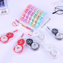School-Supplies Corrector-Tape Stationery Creative 6pcs/Lot Transparent Colourful High-Capacity