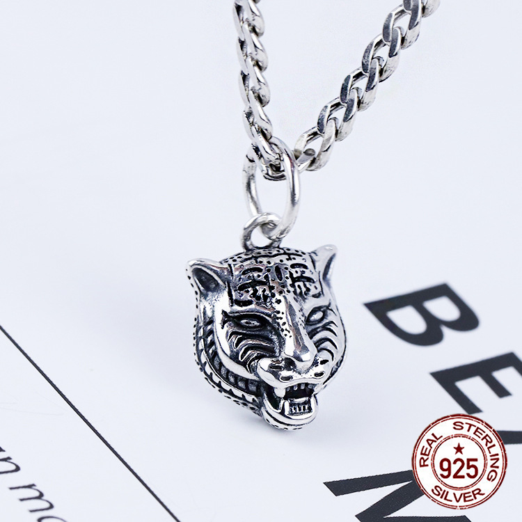 925 sterling silver necklace net red temperament trend chain lion head shape birthday gift Valentine's Day to send girlfriend