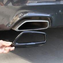 Черная декоративная наклейка на выхлопную трубу для BMW 5 серии G30 G38 2018-2021 из нержавеющей стали
