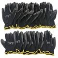 10 пар в комплекте; PU нитрил Безопасность покрытие рабочие перчатки с покрытием ладони перчатки Механика рабочие перчатки имеют сертификаты...