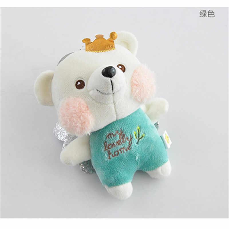 Мода 12 см плюшевый мишка Брелок-игрушка кольцо женская сумка талисманы Искусственный Кролик меховый брелок-помпон брелок Свадебная брелок