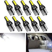 10x T10 W5W bombilla LED luz de lectura Interior de coche para Ford Focus 2 3 Fiesta fusión Ranger Kuga S Max Mondeo MK4 Mustang escapar MK2