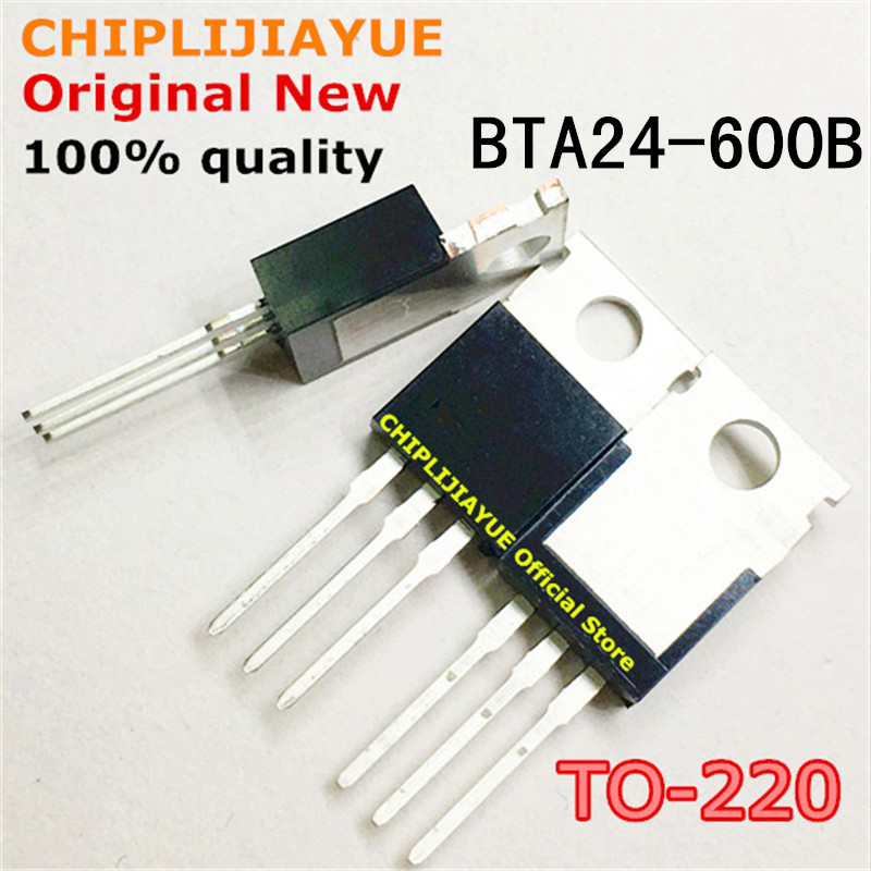 5-10PCS BTA24-600B TO220 BTA24-600 BTA24 600B TO-220 new and original IC Chipset
