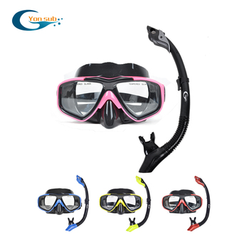 Silicone Scuba Ddult Diving Mask Two-Window Professional Snorkeling Spearfishing Mask Free Shipping YM230+YS03 цена 2017