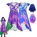 Костюм для косплея «Королева средних потоков 3», маль Эви Берта Малефисента, костюм Одри для девочек, одежда для вечеринки на Хэллоуин, комби...
