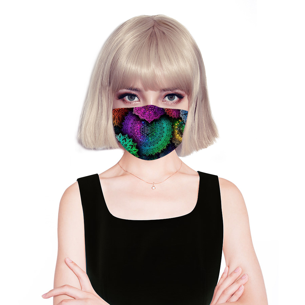 Fashion Face Mask Mandala Floral Printed Masks Fabric Adult Kids Protective PM 2.5 Dust Mouth Cover Washable Reusable Mouth Mask