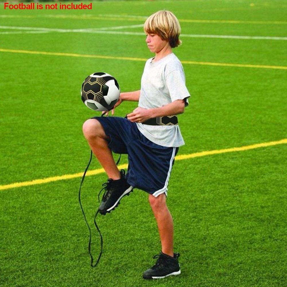 Soccer Trainer Football Strap Adjustable Tool Hand-free Training Aid Neoprene Elastic Sports Supplies Returner Kick Ball Durable