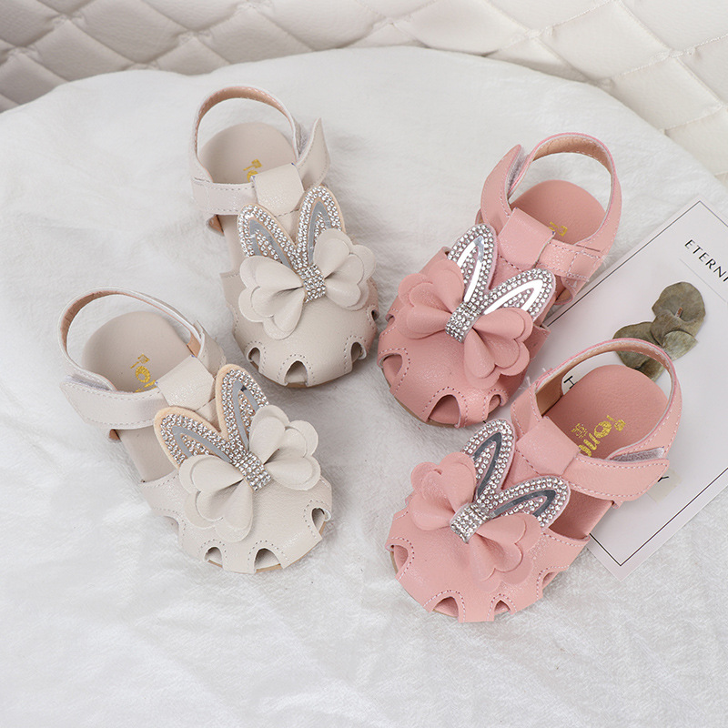 Girls' Sandals 2020 Summer New Sweet Princess Shoes Baby Fashion Breathable Hollow Toddler Shoes Soft Bottom