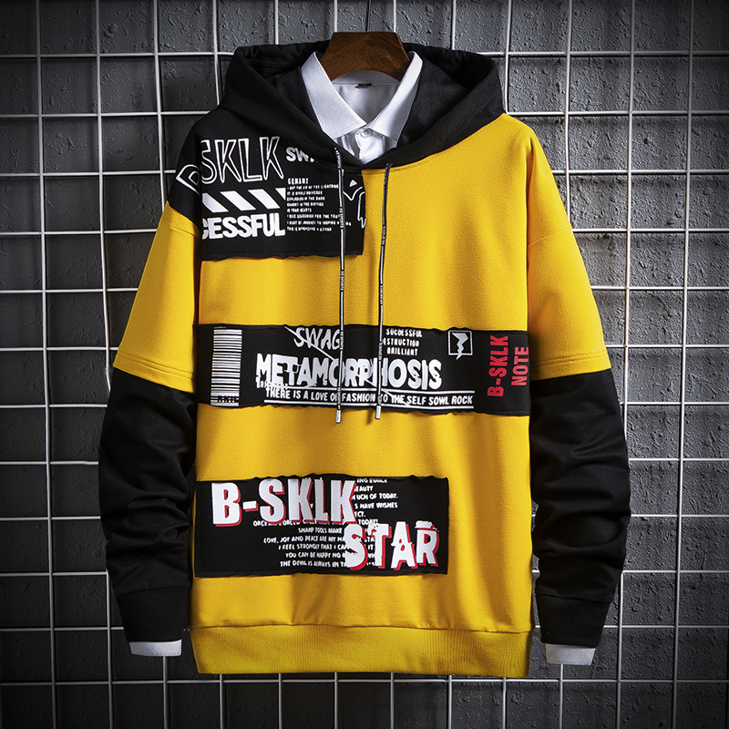 Men' Hoodie Spring Autumn 2020 New Arrival Fashion Casual Hoodie Japanese Streetwear Hip Hop Sweatshirt Male Red Hoodie