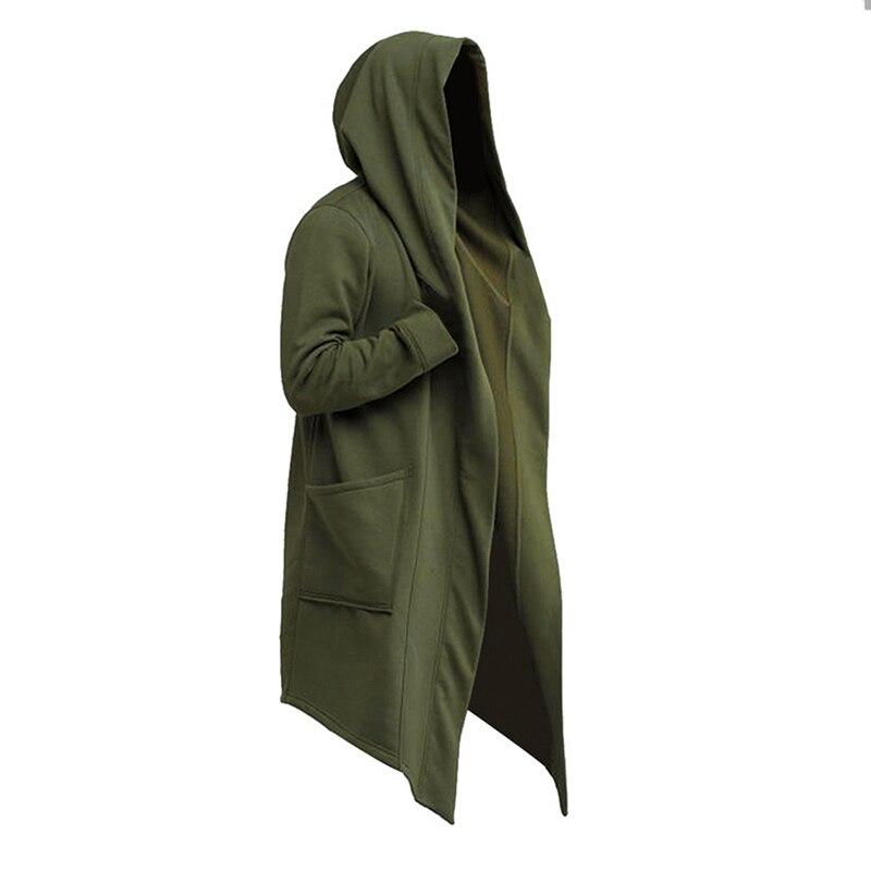 2020 Men Hooded Sweatshirts Black Hip Hop Mantle Hoodies Fashion Jacket Long Sleeves Cloak Man's Coats Outwear Hot Sale