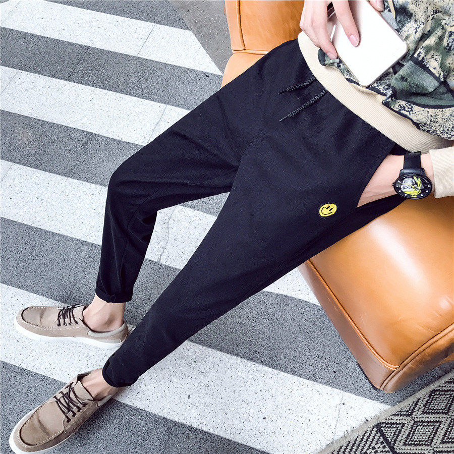 Spring And Autumn New Style Men's Trousers Skinny Pants Teenager MEN'S Casual Pants Men's Slim Fit Autumn Harem Pants Sub-Men's