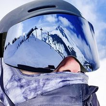 Snow Goggles Glasses Skating-Mask Anti-Fog-Protection Women DMAR Keep-Warm
