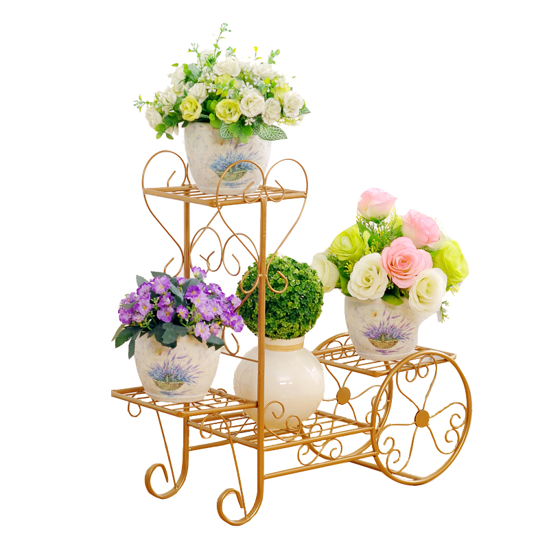 Flower Shelf Multi-storey Indoor Wrought Iron Green Flower Pot Rack Floor-standing Living Room Hanging Orchid Meat Balcony Rack