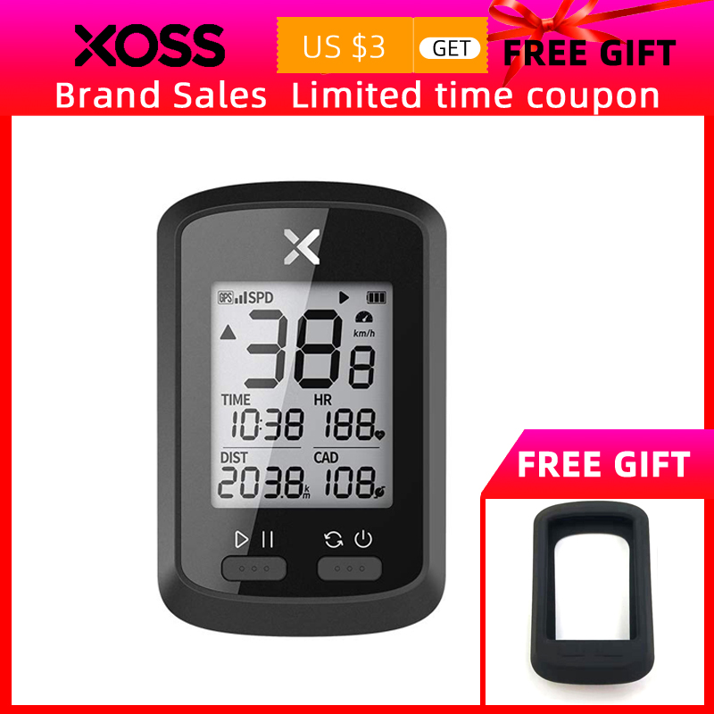 XOSS <font><b>Bike</b></font> <font><b>Computer</b></font> G+ Wireless <font><b>GPS</b></font> Speedometer Waterproof Road <font><b>Bike</b></font> MTB Bicycle Bluetooth ANT+ <font><b>with</b></font> Cadence Cycling <font><b>Computers</b></font> image