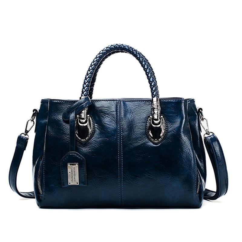 Vintage Oil Wax leather luxury handbags women bags designer ladies hand bags for women 2019 bag sac a main Femme Bolsa Feminina 5