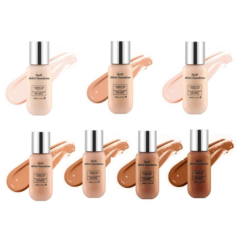 35g Youth Velvet Foundation Cream Concealer Professional Brighten Youth Velvet Foundation Full Coverage Makeup Facial Matte Base image