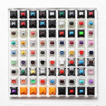 81 переключатель тестер с акриловым основанием пустые колпачки для механической клавиатуры cherry kailh gateron outemu ice greetech box