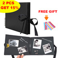 Photo Albums Black Pages Memory Books Craft Paper DIY Scrapbooking Idol Picture Wedding Birthday Memorial Graduation Gift Album
