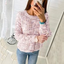 New Fashion Autumn Winter Sweater Female Casual Tops Laides Slim Cotton Pattern Button Pullovers Tops 2020(China)