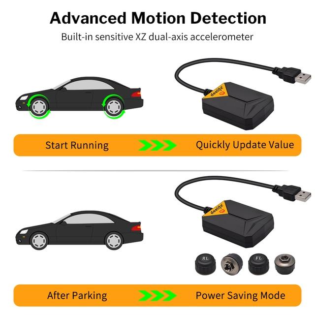 DVD Player Sistem de monitorizare a presiunii în anvelope  USB TMPS 4